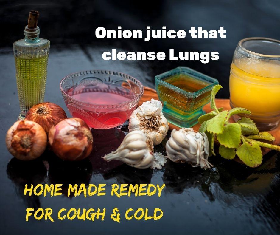 Red onion juice
